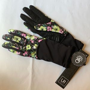 NWT. UR Ruched Floral Print S/M Stretchy Gloves.